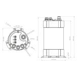 2G Fuel Surge Tank 3.0 liter for Ti Automotive (Walbro) GST 450 / 520