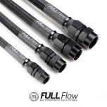 Black Nylon PTFE Stainless Braided Fuel Hose AN-6