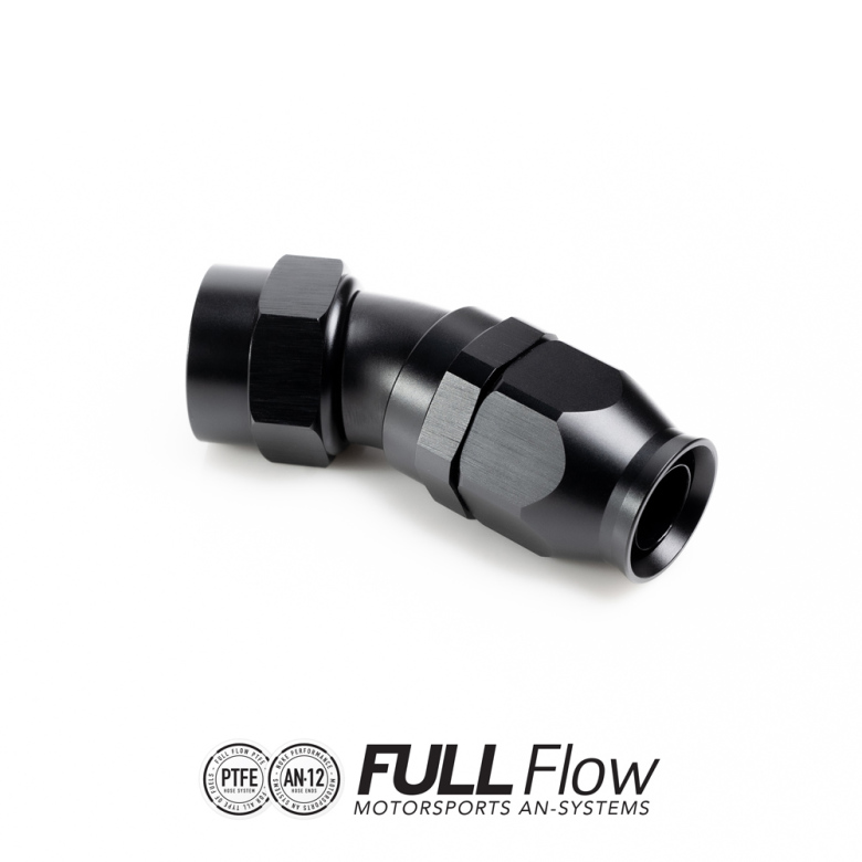 Full Flow PTFE Hose End Fitting 30 Degree AN-12