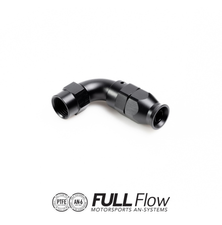 Full Flow PTFE Hose End Fitting 90 Degree AN-6