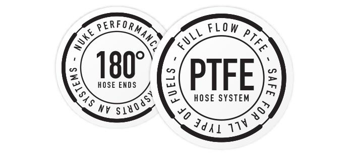 180 Degree Full Flow PTFE Hose End Fittings