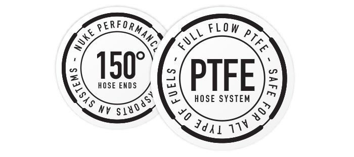 150 Degree Full Flow PTFE Hose End Fittings