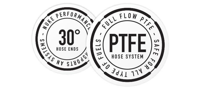 30 Degree Full Flow PTFE Hose End Fittings