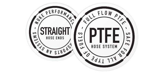 Straight Full Flow PTFE Hose End Fittings
