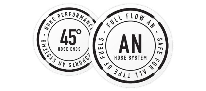 45 Degree Full Flow AN Hose End Fittings