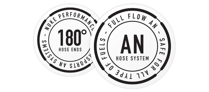 180 Degree Full Flow AN Hose End Fittings